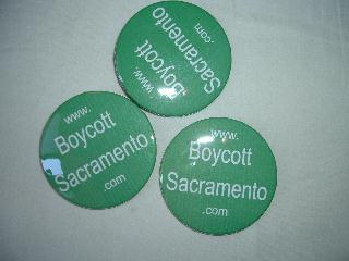 Picture of Boycott Sacramento badges